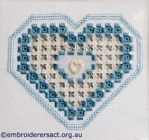 Guild Hardanger Sample stitched by Bonnie Crawford