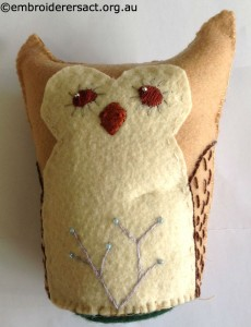 Lilas Owl Softie Finished