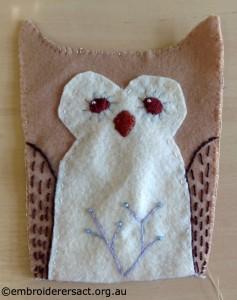 Lilas Owl Softie in Progress