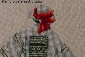 X stitch and Blackwork Lady by Marjorie Gilby