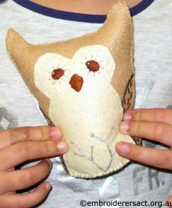 lila and Owl Softie
