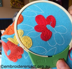 Chain Stitch Embroidery stitched by Jillian Farrer