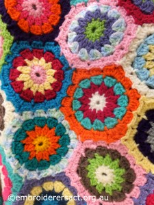 Crochet in progress by Janice Brennan