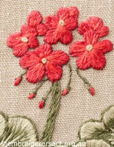 Detail 1 of Geranium Cover by Marjorie Gilby