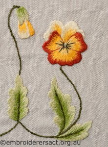 Detail 1 of Two Violas Diary Cover by Marjorie Gilby