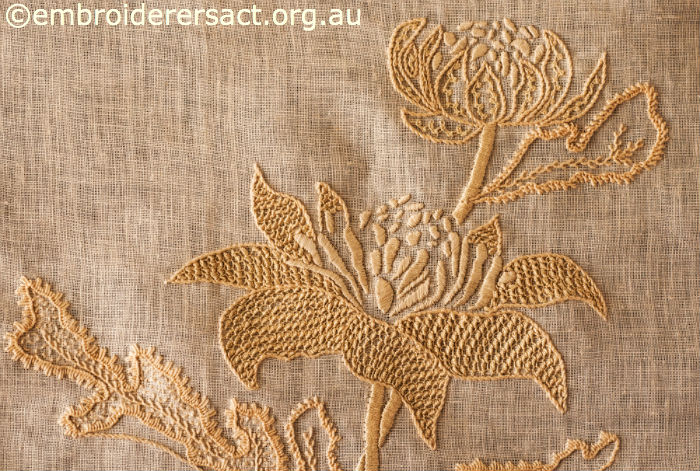 Embroidery Linen Fabric Australia Hand Emroidered Linen