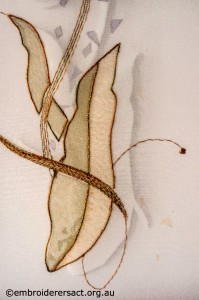 Detail 2 of Encased Organza Tulip stitched by Agnes Sciberras