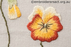 Detail 2 of Two Violas Diary Cover by Marjorie Gilby