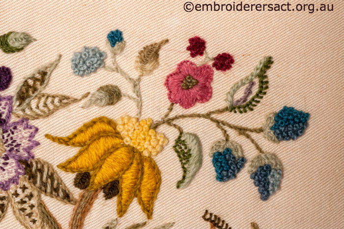 Crewel Embroidery Cushion
