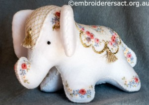 Elephant Softie stitched by Barbara Adams