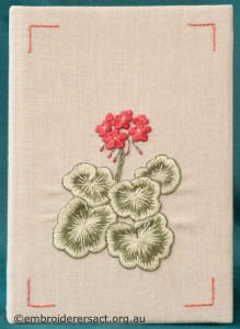 Geranium Diary Cover by Marjorie Gilby