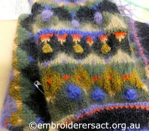 Jumper in Progress by Glenda Hudson