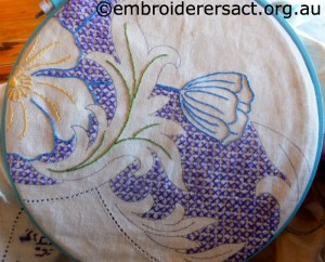 Vintage Embroidery stitched by Leonie Hunt