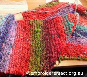 Woollen Scarf knitted by Janice Brennan
