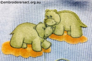 Applique stitched by Elvi McCann