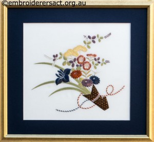 Bouquet from the Heart of Japan stitched by Irene Burton