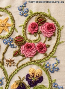 Detail 1 of Flower Garden Diary Cover by Marjorie Gilby