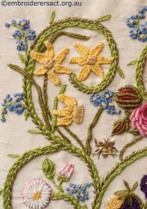 Detail 2 of Flower Garden Diary Cover by Marjorie Gilby
