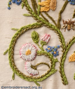 Detail 3 of Flower Garden Diary Cover by Marjorie Gilby