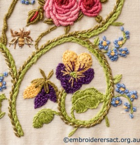Detail 4 of Flower Garden Diary Cover by Marjorie Gilby