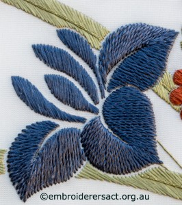 Detail 6 from Bouquet from the Heart of Japan stitched by Irene Burton