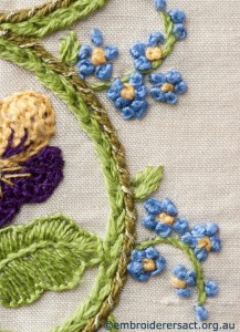 Detail 6 of Flower Garden Diary Cover by Marjorie Gilby