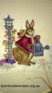 Rabbit Stitchery by Yvonne Kingsley
