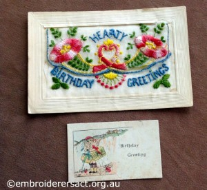 WW1 Silk Postcard 2 belonging to Helen Hardie