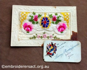 WW1 Silk Postcard 3 belonging to Helen Hardie