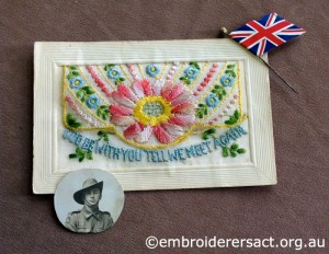 WW1 Silk Postcard 4 belonging to Helen Hardie