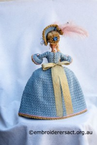 Back of Marie Antoinette Doll by Irene Burton