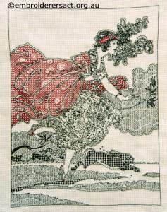 Blackwork stitched by Susan Coates