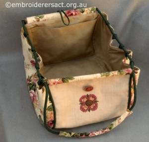 Crewelwork Stable Bag stitched by Jillian Bath