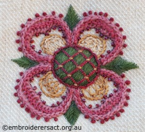 Detail 1 of Crewelwork Stable Bag by Jillian Bath