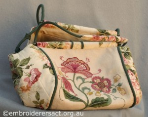 Detail 3 of Crewelwork Stable Bag stitched by Jillian Bath