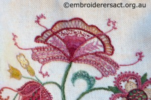 Detail 5 of Crewelwork Stable Bag stitched by Jillian Bath