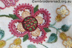 Detail 7 of Crewelwork Stable Bag stitched by Jillian Bath