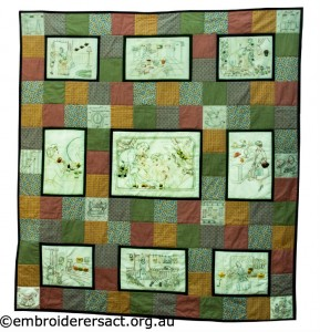 The Sewing Circle Quilt stitched by Susan Coates