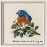 Threadpainting of Bluebird