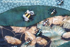 Detail 1 of Reverse Applique with Ants by Pat Bootland