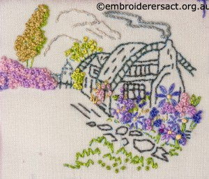 Detail 2 of 2014 Creative Challenge Postcard by Evelyn Foster