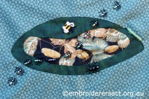Reverse Applique with Ants by Pat Bootland