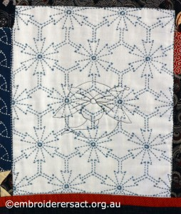 Detail 10 of Sashiko Sampler Quilt by Jennifer Zanetti