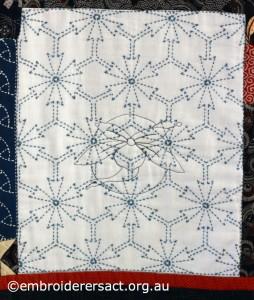 Detail 10 of Sashiko Sampler Quilt by Jennifer Zanetti