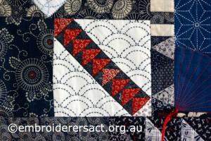 Detail 12 of Sashiko Sampler Quilt by Jennifer Zanetti