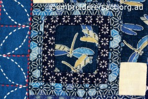 Detail 13 of Sashiko Sampler Quilt by Jennifer Zanetti