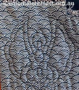 Detail 14 from Sashiko Sampler Quilt by Jennifer Zanetti