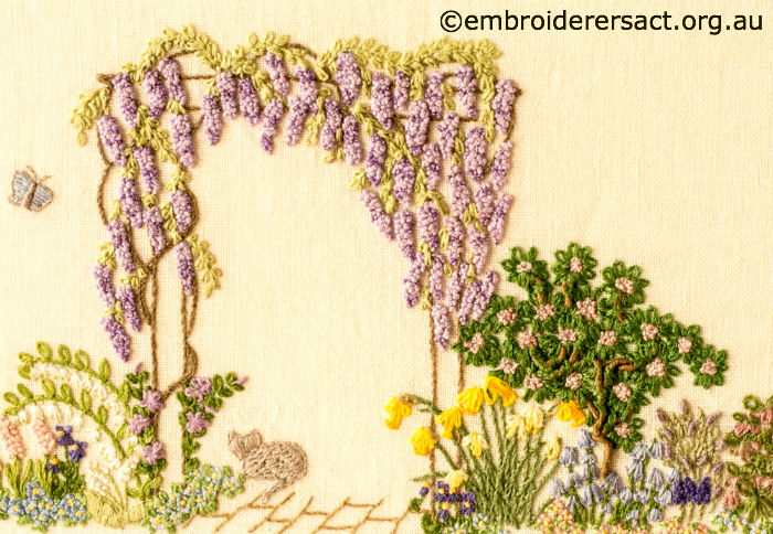 Garden Embroidery Designs garden sunshine brazilian embroidery design Detail 2 Of Floral Garden Stitched By Sue Scorgie