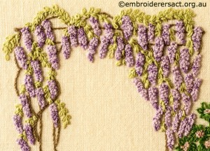 Detail 4 of Floral Garden stitched by Sue Scorgie