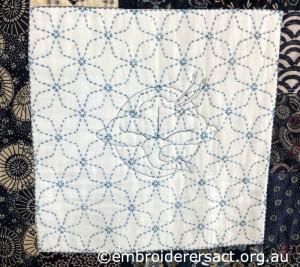 Detail 6 of Sashiko Sampler Quilt by Jennifer Zanetti